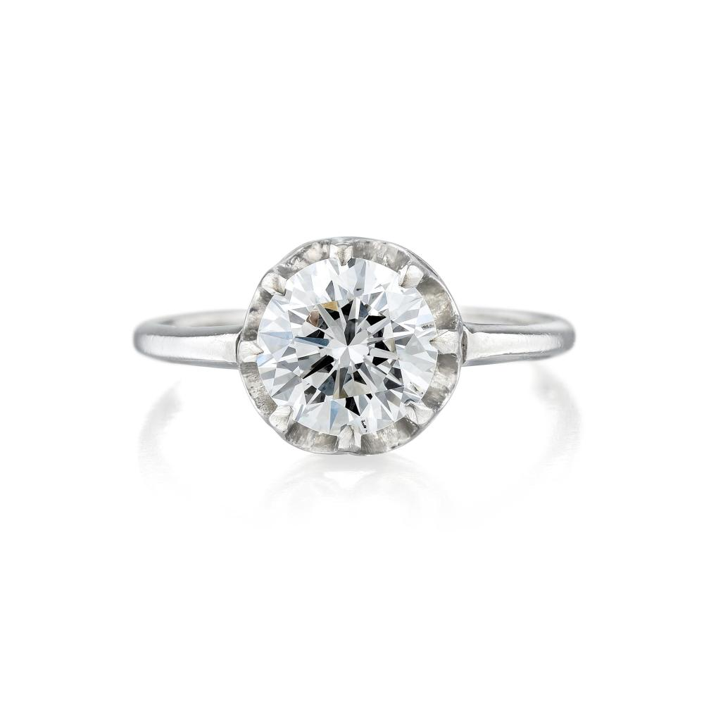 A 1.18-Carat Diamond Solitaire Ring