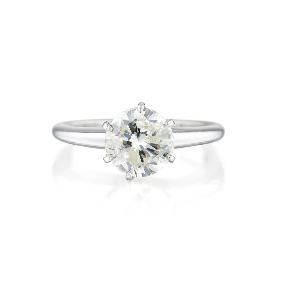 A 1.36-Carat Diamond Solitaire Ring