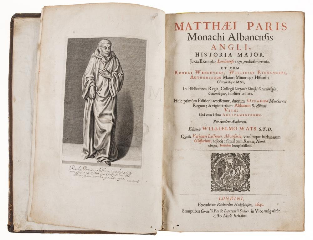 Paris (Matthew) Monachi Albanensis Angli, Historia Major, 1640; and 5 others (6)