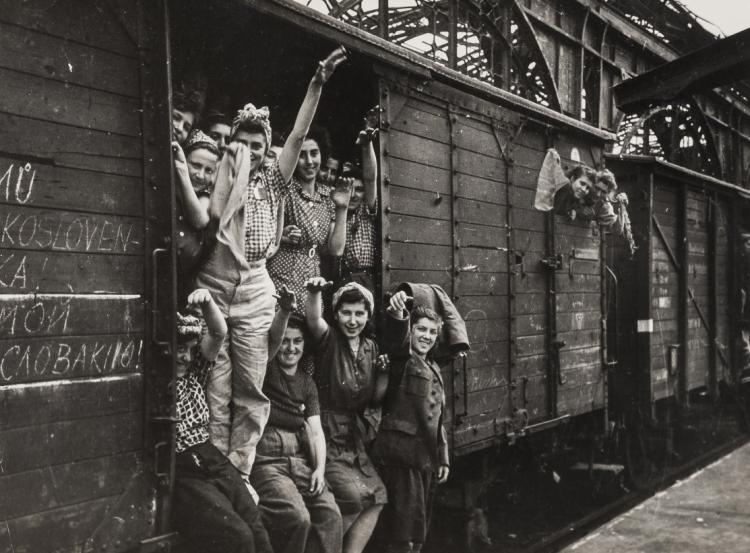 NO RESERVE Georgi Khomzor (1914-1990);  and others Women in a train, 1945; and others