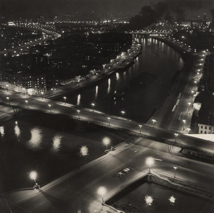 NO RESERVE Mikhail Trakhman (1918-1976) Moscow by Night; Zarevo at Dawn, 1940s