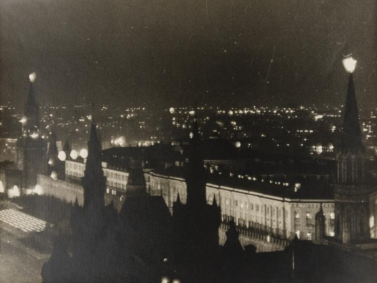 NO RESERVE Emmanuil Evzerikhin (1911-1984) Fireworks to Celebrate 800 Years of Moscow, 1947; and five others.
