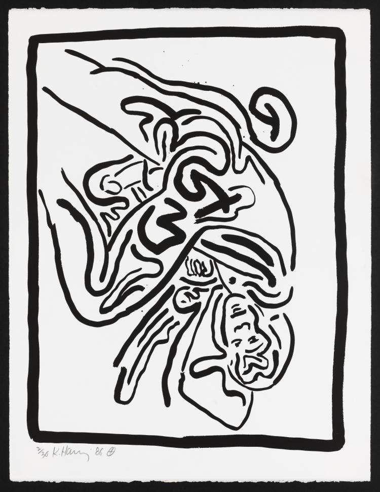 Keith Haring (1958-1990) Untitled (from Bad Boys)
