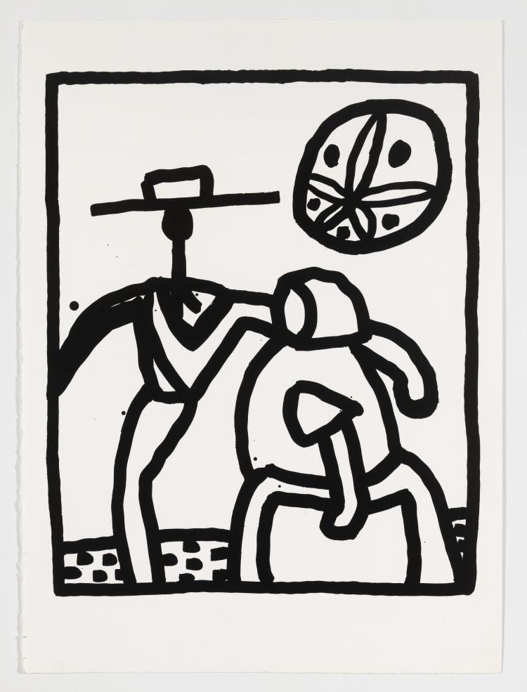 Keith Haring (1958-1990) Untitled Kutztown (Littmann 134)
