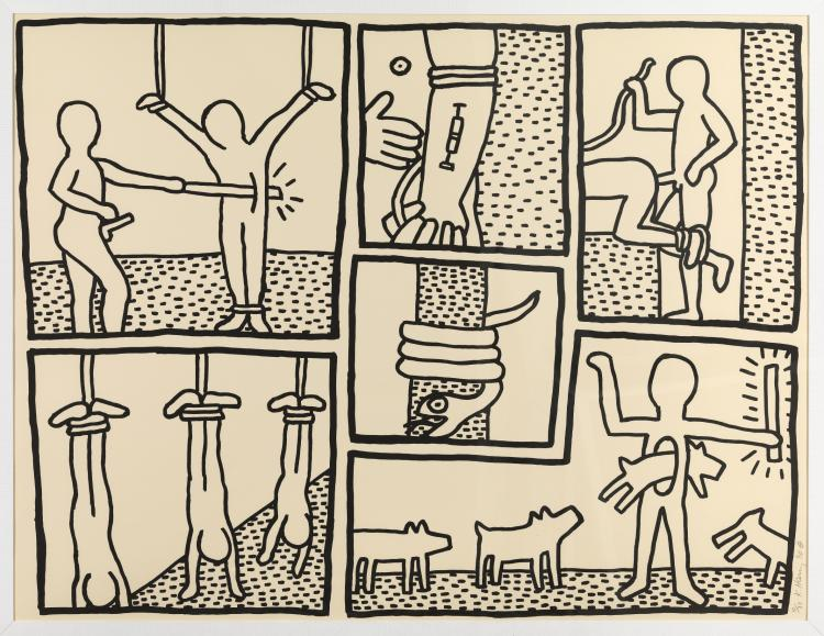 Keith Haring (1958-1990) The Blueprint Drawings: one plate (Littmann p.177)