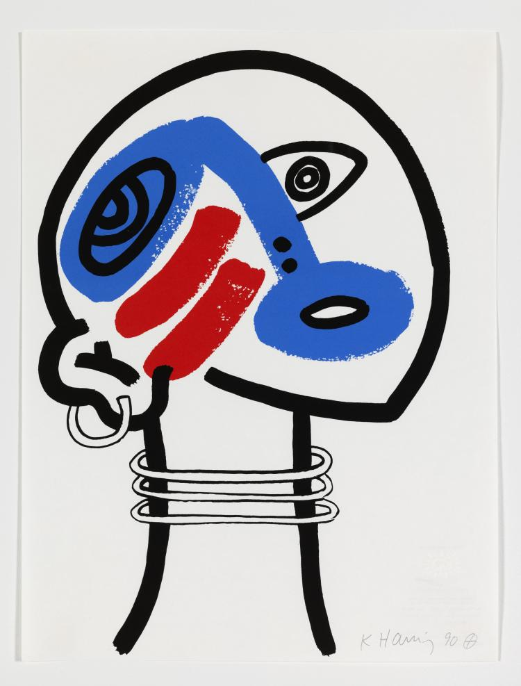 Keith Haring (1958-1990) The Story of Red and Blue