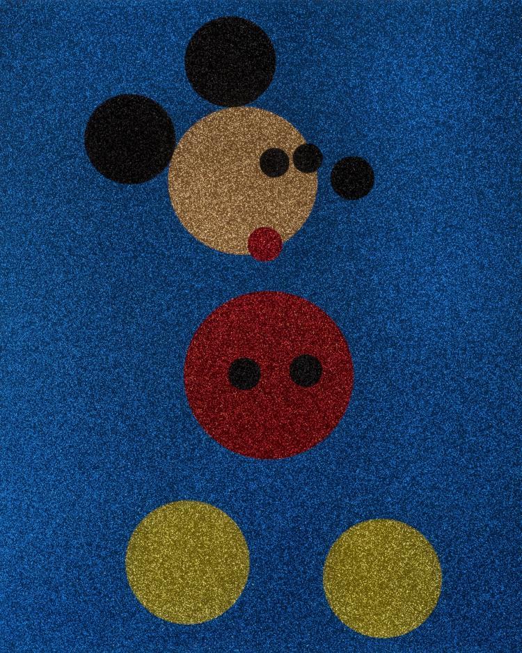 δ Damien Hirst (b.1965) Mickey (Blue Glitter)