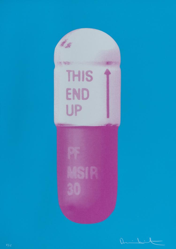 δ Damien Hirst (b.1965) The Cure - Vivid Blue/Cloudy Pink/Candy Floss Pink