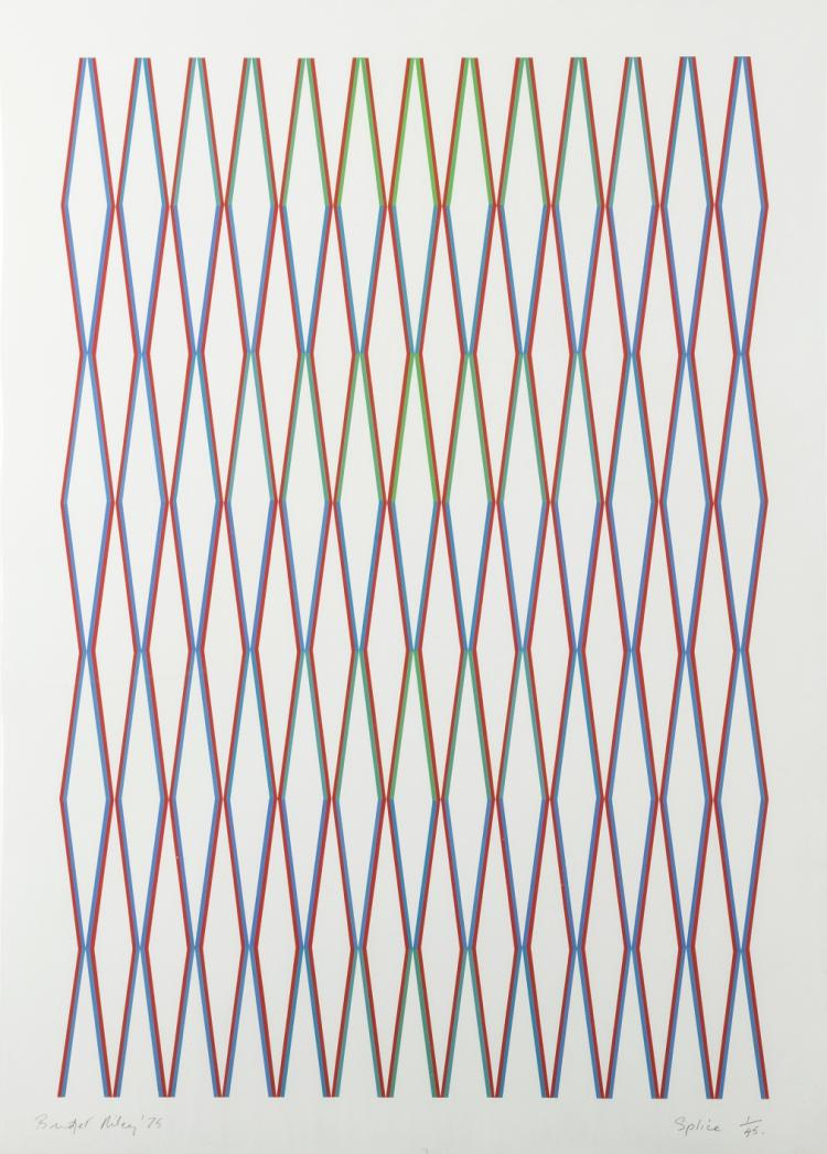 δ Bridget Riley (b.1931) Splice (Schubert 21)