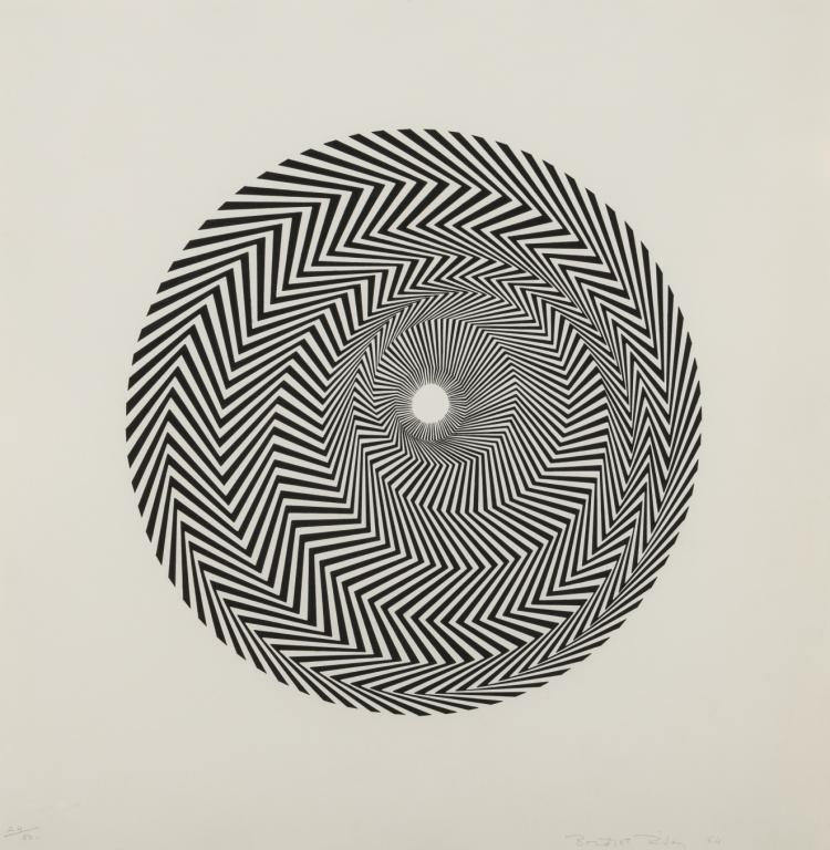 δ Bridget Riley (b.1931) Untitled (Based on Blaze) (Schubert 4)