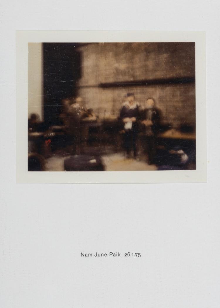 δ Richard Hamilton (1922-2011) Polaroid Portrait, Nam June Paik 26.1.75