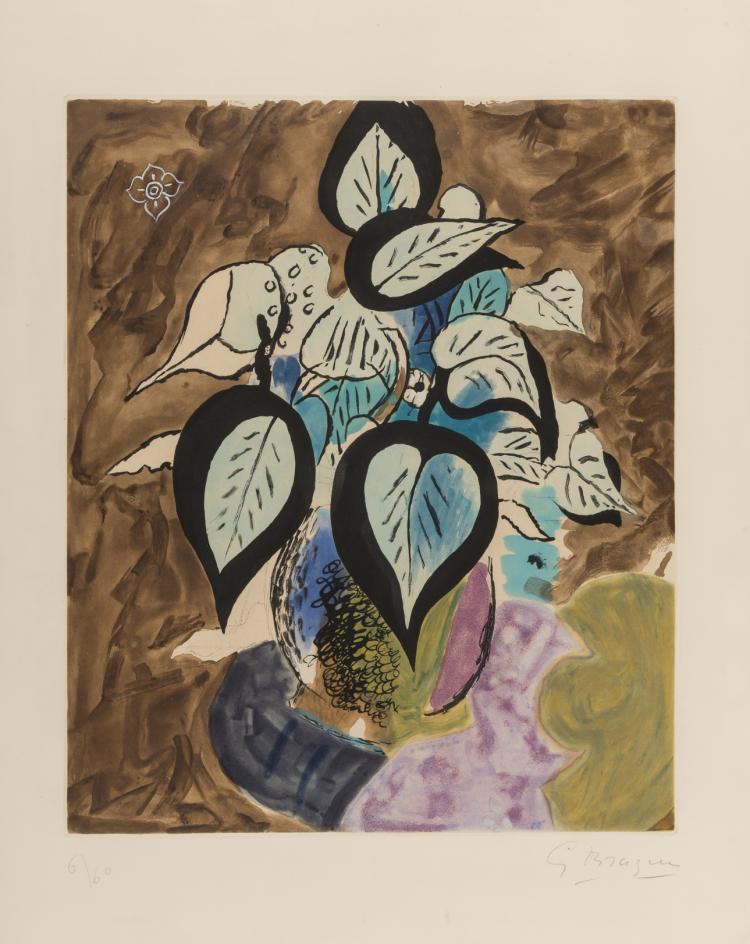 δ Georges Braque (1882-1963) Feuillage en couleurs (Vallier 105)