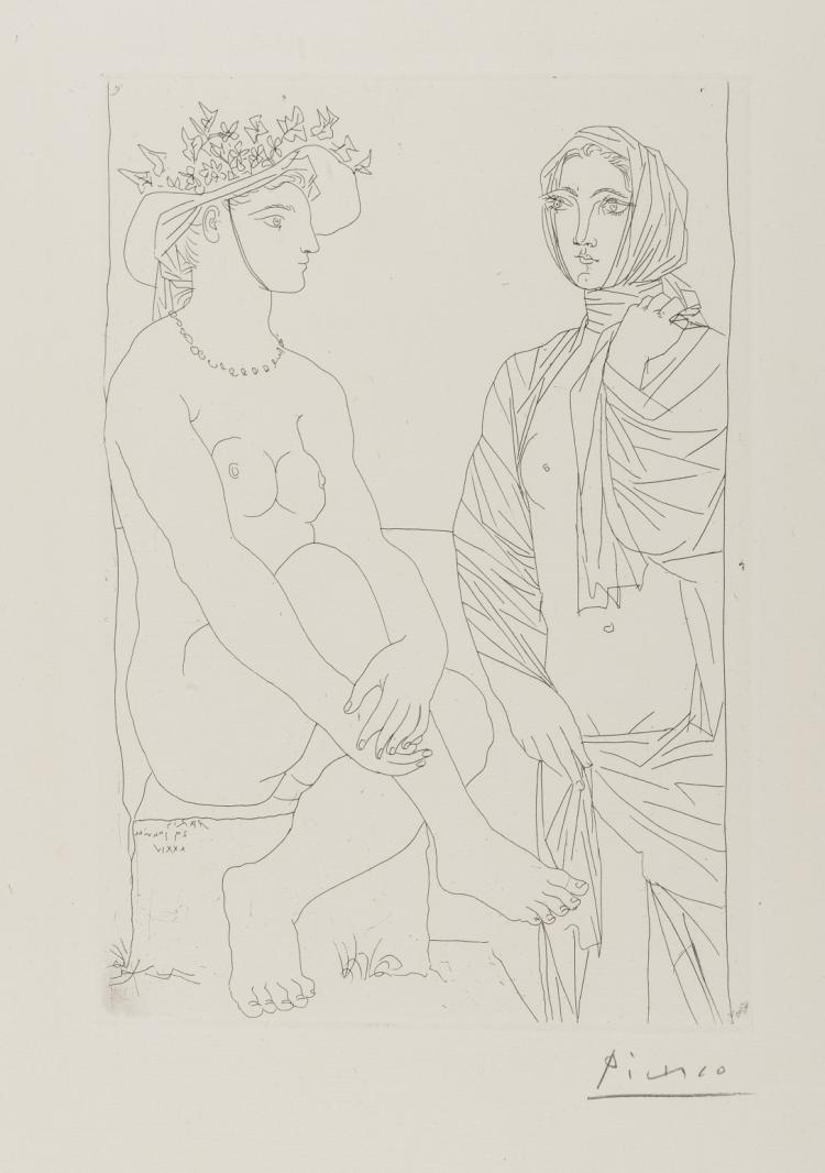 δ Pablo Picasso (1881-1973) Femme Assise au Chapeau (Bloch 210; Baer 408)