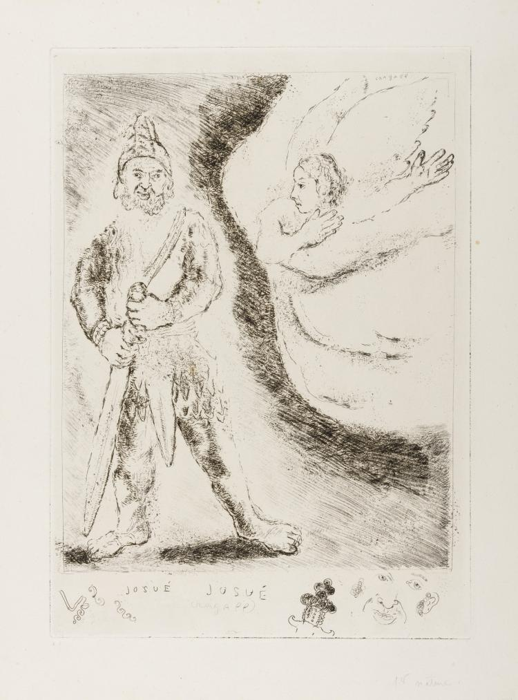 δ Marc Chagall (1887-1985) Joshua Armed by the Angel of God (Plate 43 from the Bible) (Sorlier 242; Cramer 29)
