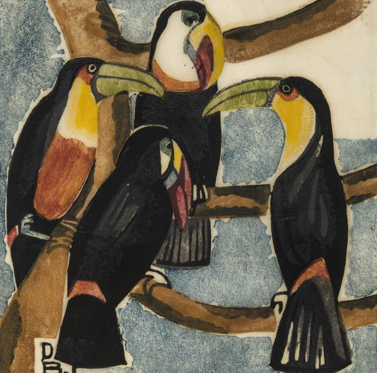 δ Dorrit Black (1891-1951) Toucans (Coppel DB 37)