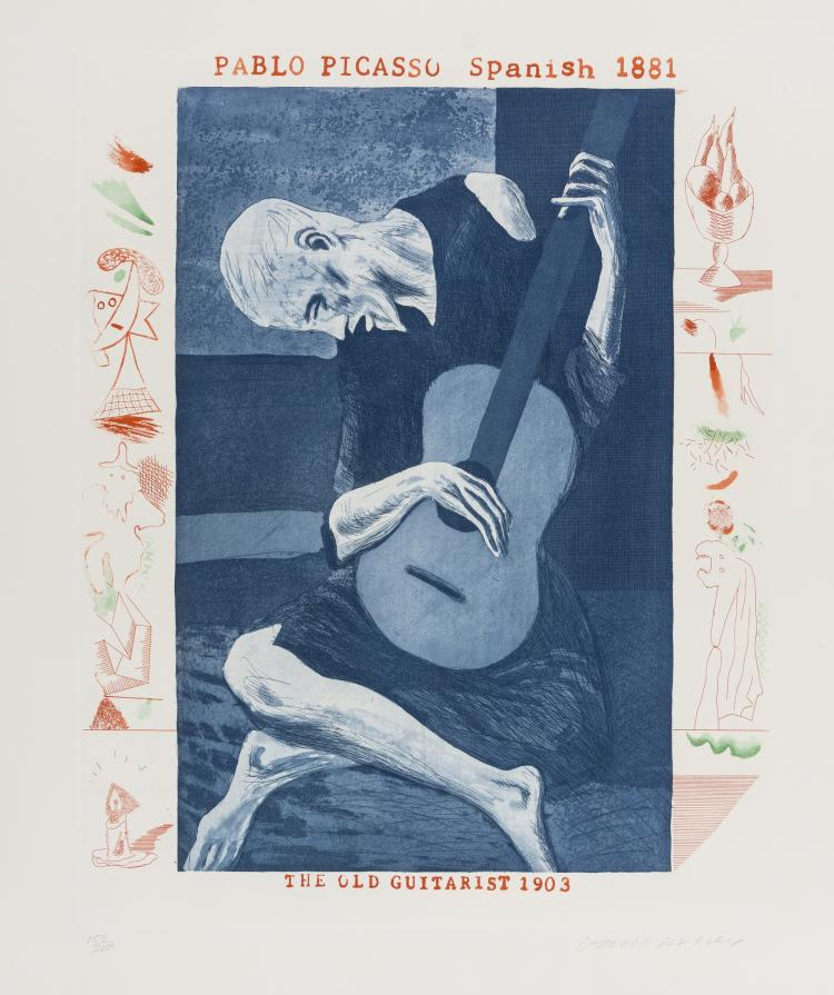 David Hockney (b.1937) The Old Guitarist (from The Blue Guitar) (M.C.A. Tokyo 179)