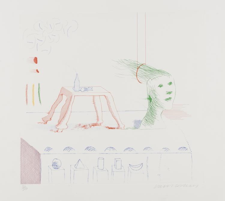 David Hockney (b.1937) A Moving Still Life (from The Blue Guitar) (M.C.A. Tokyo 195)