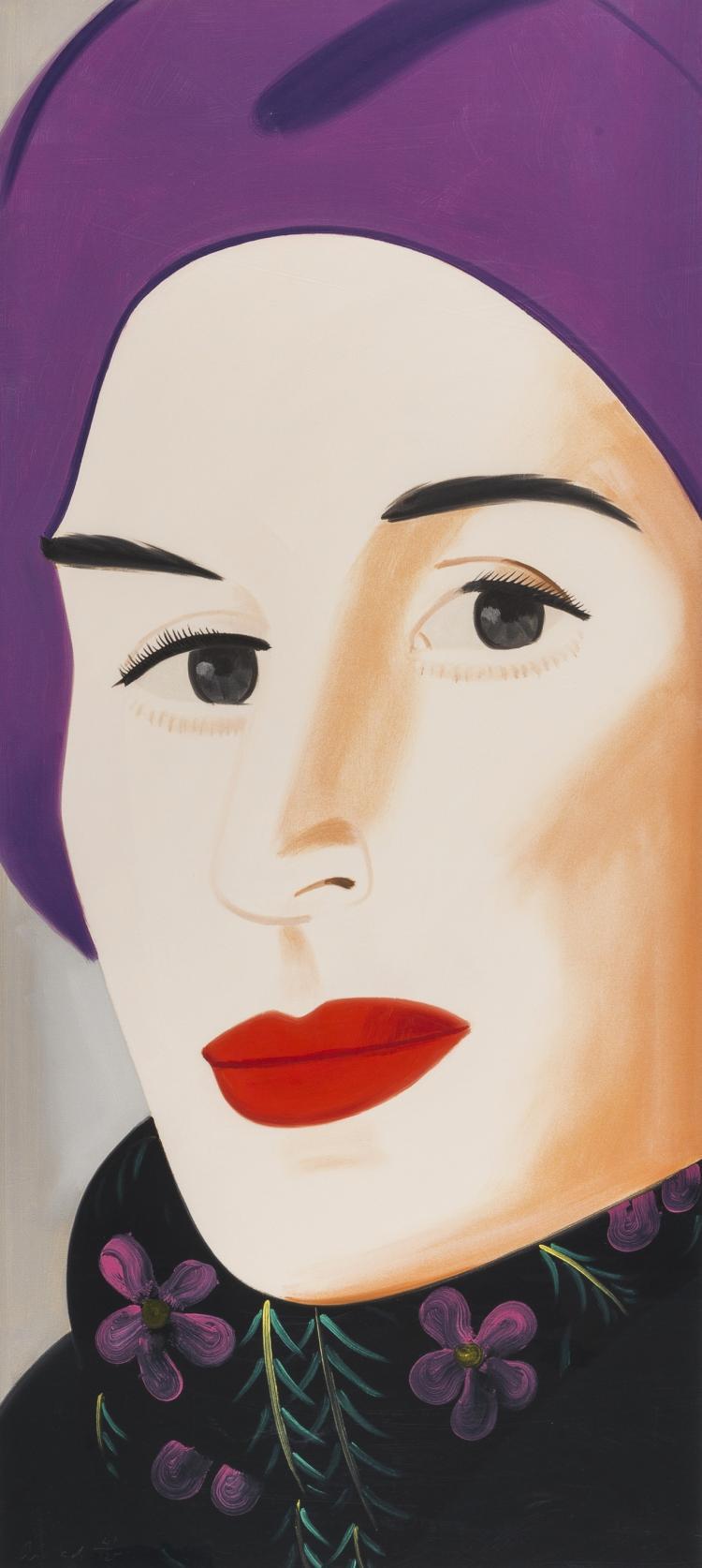 Alex Katz (b.1927) Purple Hat Ada