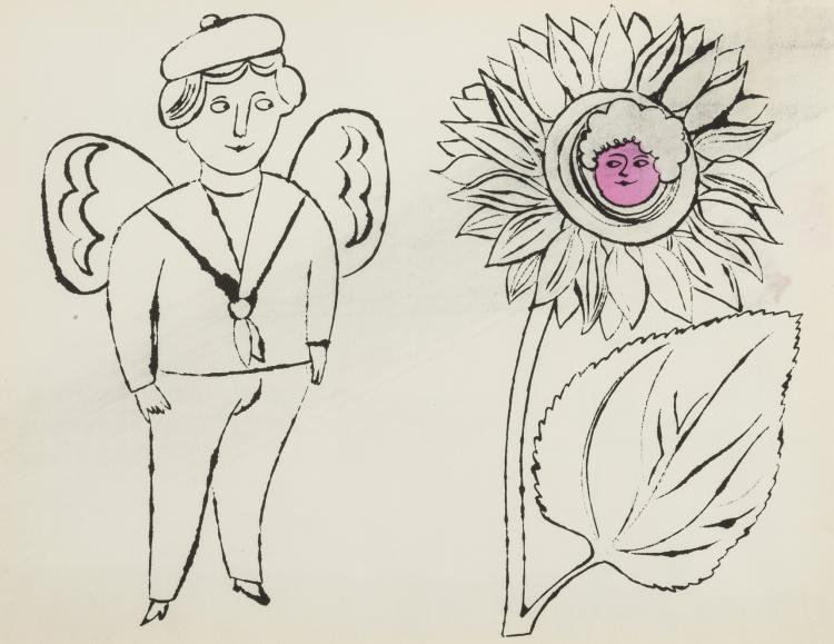 Andy Warhol (1928-1987) From. In the Bottom of My Garden: one plate (Feldman& Schellmann IV.100)