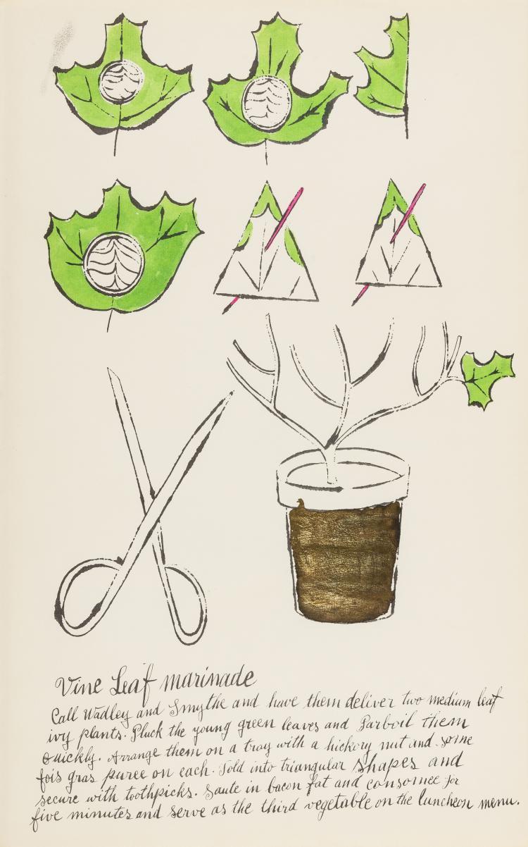Andy Warhol (1928-1987) Vine Leaf Marinade (from Wild Raspberries) (see Feldman & Schellmann IV.141.A)