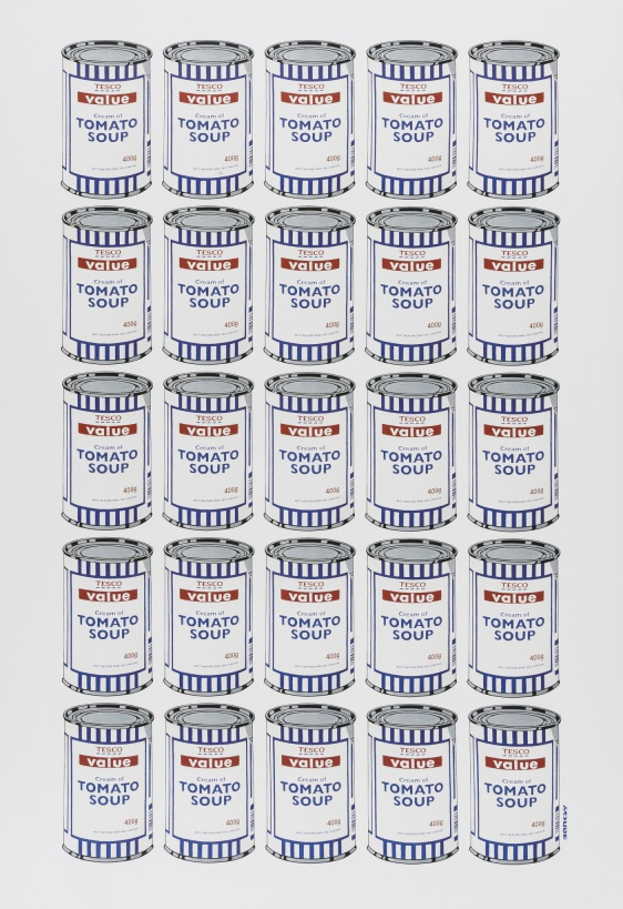 Banksy (b.1974) (after) Tesco Tomato Soup Cans