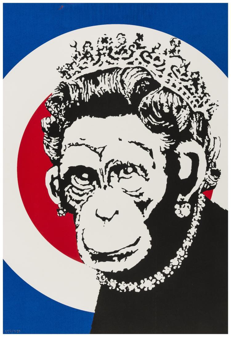 Banksy (b.1973) Monkey Queen
