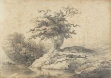 Burgess (Henry William, c.1792-1844), Two sketchbooks with Romantic landscapes and tree studies, [circa 1822-1830].