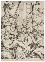 Vico (Enea), The Deposition, after Giorgio Vasari, circa 1540.