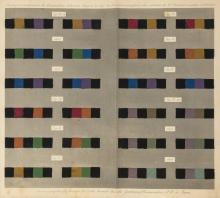Colour Theory in Textile Manufacture.- Rouget de Lisle (A.), Chromagraphie ou l'Art de Composer un Dessin, first & only edition, 9 colour plates & 6 engraved plates, original wrappers, 4to, Paris, for the author, 1839.