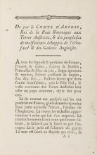 Australia.- Botany Bay.- Le Comte D'Artois, Roi de Botani-Bay, A Tous les Fuyards, Traitres, Proscrits de la France, [?Paris], [c.1790].