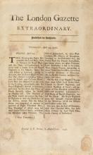 Victory at Culloden.- , The London Gazette Extraordinary, E. Owen, 1746.