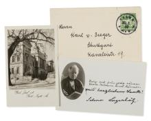 Lagerlöf (Selma), Card signed, 1939; and c. 15 others, German letters etc., (c. 15).