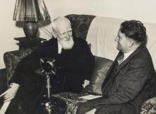 Shaw (George Bernard) Collection of material relating to a wireless interview with George Bernard Shaw by Maurice Webb in Durban, South Africa, 1935.