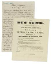 Wales.- Mostyn family, of Mostyn, Co. Flint. Archive of papers, v.s., v.d., 1776-1843.