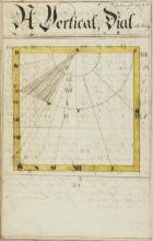 Surveying & Sun Dials.-  Practical Surveying by the Chain and Square [&] a new method of Constructing Sun Dials for any given Lattitude without the assistance of Dialing Scales or Logarithmic Calculations by James Ferguson, manuscript, 99pp., watercolour survey maps and dials, 1760.