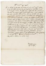 Venice.- Guoro (Pandolfo) Letter to the Three Heads of the Council of Ten at Venice, 1p., folio, 21st July 1555.