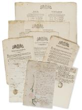 Malta plague.-  A collection of 178 broadside notices giving the names and addresses of those who contracted or dies from the 1813 plague, 1813.