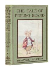 Potter (Beatrix) The Tale of Pigling Bland, first edition with broken glacine dust-jacket, 1913.