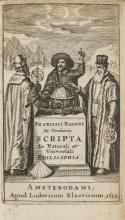 Elzevier.- Bacon (Sir Francis) Scripta In Naturali et Universali Philosophia, first edition, Amsterdam, Louis Elzevier, 1653.