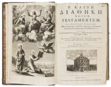 Bible, Greek.- He Kaine Diatheke [graece]. Novum Testamentum, edited by John Mill, contemporary panelled calf, folio, Oxford , Sheldonian Theatre, 1707.