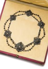 An Ottoman diamond and emerald necklace