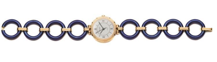 Van Cleef & Arpels. A lady's 18ct gold wristwatch, Ref. 16603