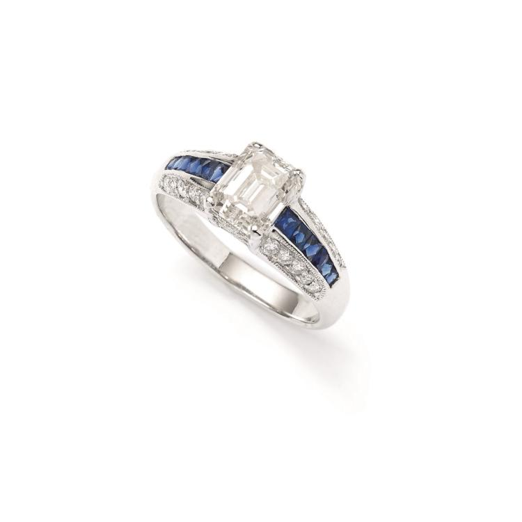 A diamond, sapphire and 18ct dress ring