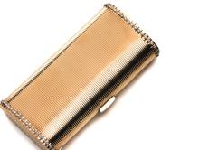 A ladies 18ct gold evening clutch, 1950s