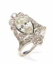 A diamond ring, early 20th century