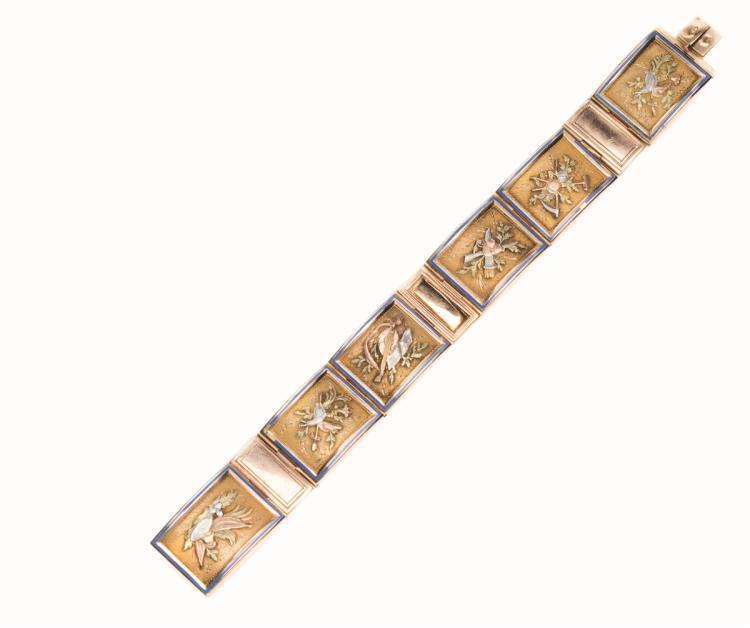 A late 19th century gold bracelet, Boucheron Paris