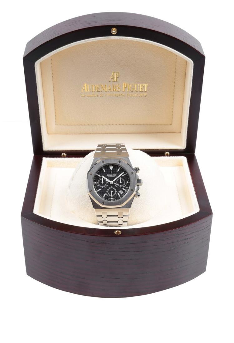 A stainless steel automatic chronograph wristwatch, Royal Oak, Audemars Piguet