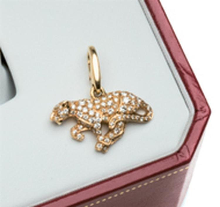 Diamond 18 ct gold  pendant,