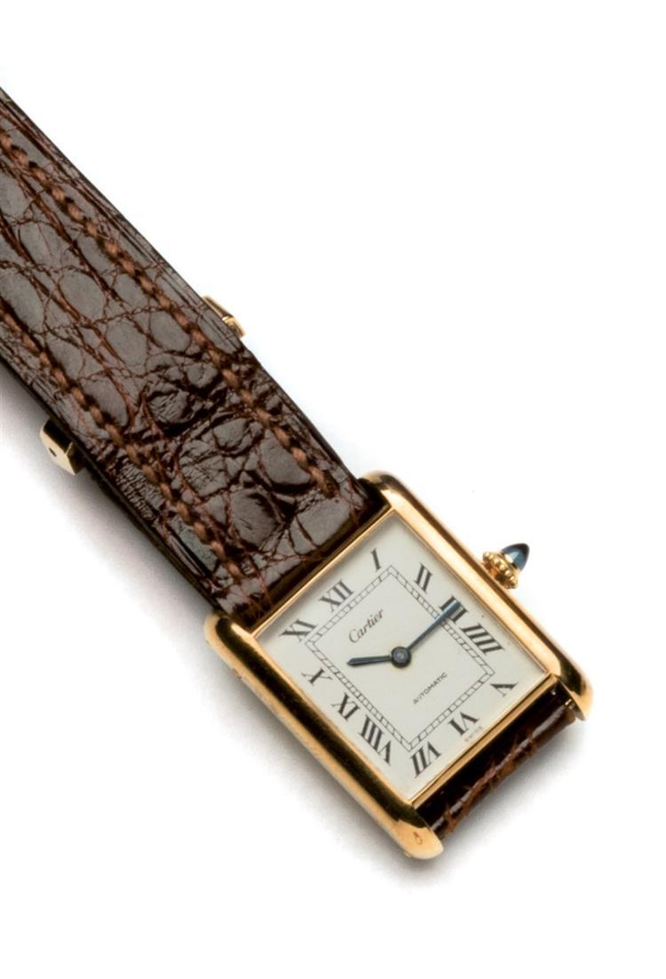 Cartier. A vintage Louis Cartier Tank wristwatch