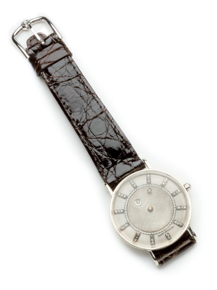 Vacheron Constantin Jaeger Le Coultre. An 14 ct gold and Diamonds-Set Mistery dial wristwatch